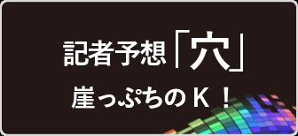 崖っぷちのK!「穴」予想!